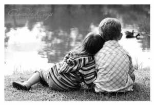 niños enamorado