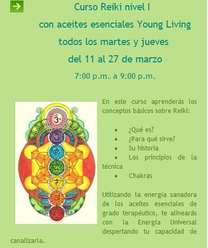 reiki con aceites esenciales young living