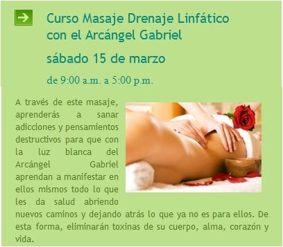 taller masaje linfatico con angeles