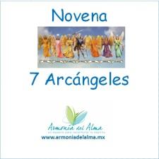 etiqueta novena 7 arcangeles
