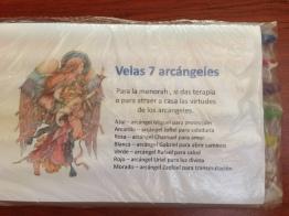 paquete velas 7 arcángeles para menorah