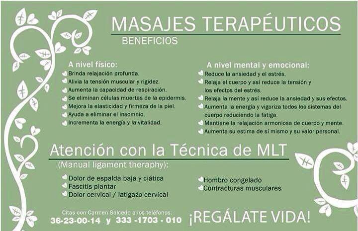 masajes terapéuticos Carmen Salcedo