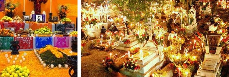 panteon y altar de muertos