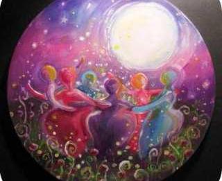 seres de luz luna mundo
