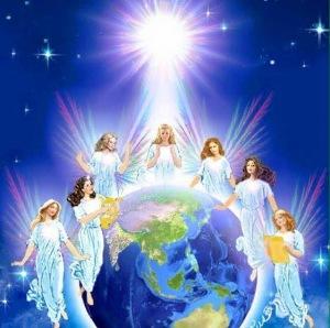 angeles rodeando la Tierra