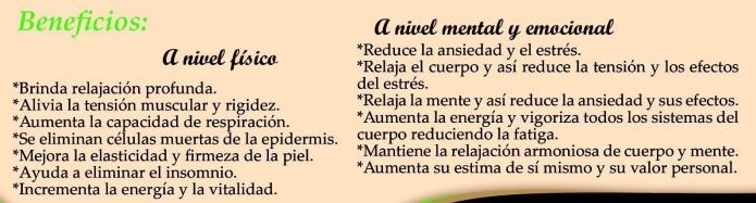 masajes Carmen beneficios