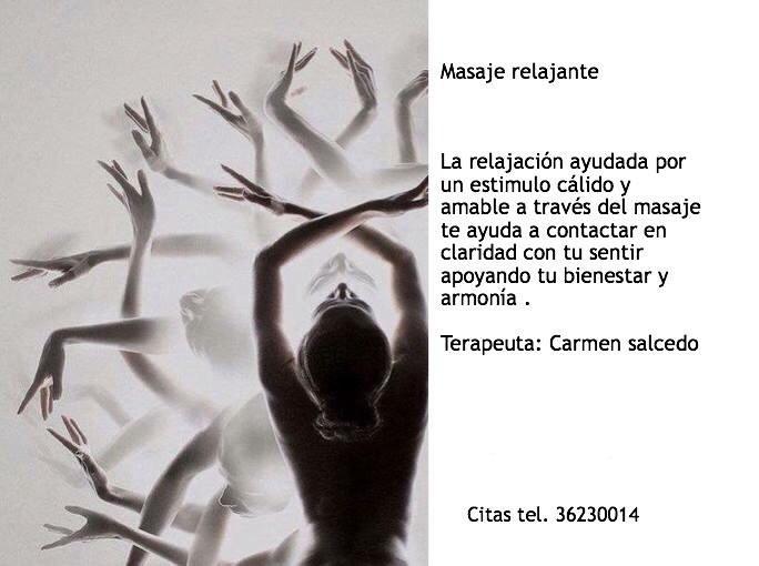 promocion masaje Carmen Salcedo