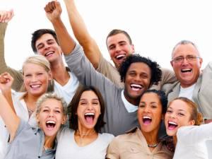 gente feliz hombre mujer alegria
