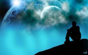 meditar montaña noche lunas