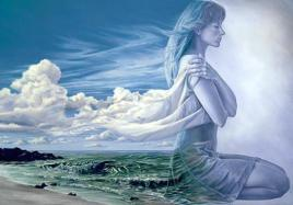 abrazo_a_si mujer oceano mar