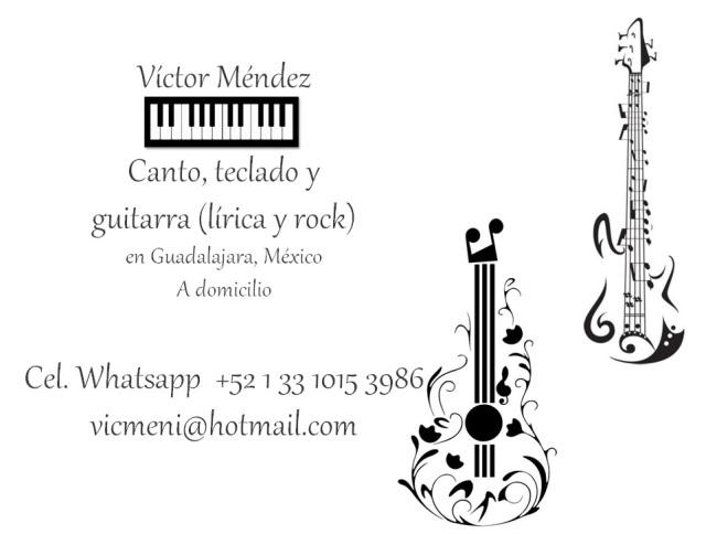 clases canto guitarra teclado victor