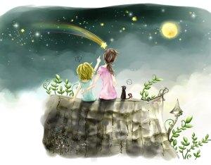 soñar estrella fugaz niñas gato