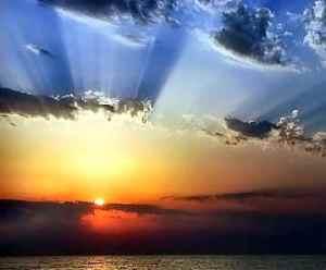 amanecer paisaje sol nubes luz