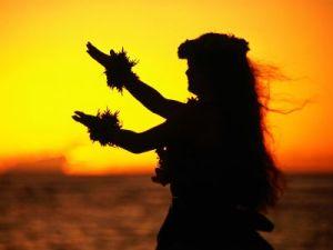 hawaiiana atardecer mujer