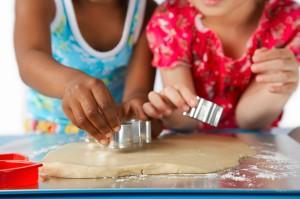 galletas hornear niñas cocina