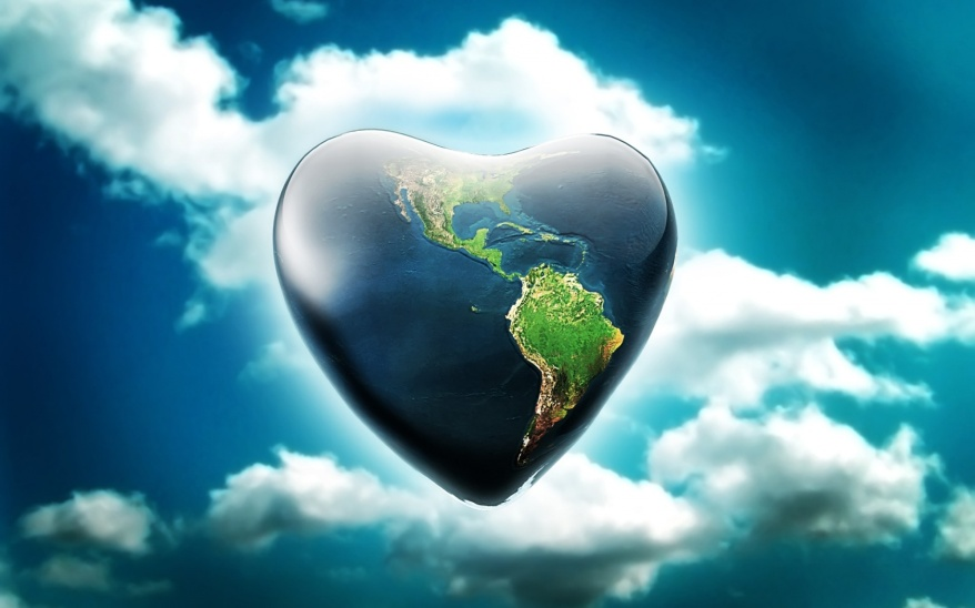 tierra planeta corazon