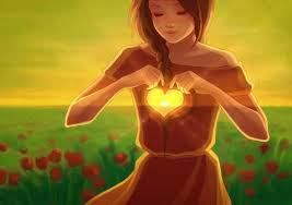 niña corazon