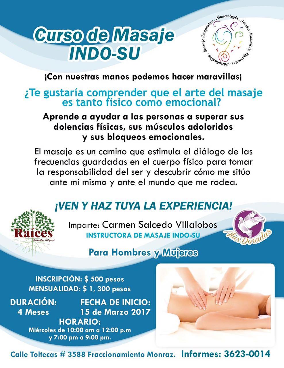 Masaje Indo-Su Curso presencial en Guadalajara (México) – Armonia ...